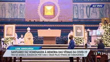 Santuário Nacional de Aparecida faz homenagens às mais de 106 mil vítimas da Covid-19 - A ação faz parte de uma iniciativa da Conferência Nacional dos Bispos do Brasil (CNBB), que convocou um dia de oração pelas vítimas do coronavírus.