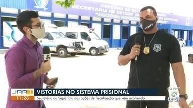 Vistorias são realizadas no sistema prisional de Roraima - Secretaria de Justiça fala sobre as ações que vem ocorrendo nas unidades