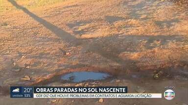 Sol Nascente completa um ano como cidade - Mas as obras de infraestrutura estão paradas na região administrativa. O GDF disse que houve problemas em contratos e aguarda licitação.
