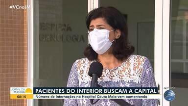 Covid-19: pacientes do interior buscam internações no Hospital Couto Maia, em Salvador - Número de internações na unidade hospitalar vem aumentando.