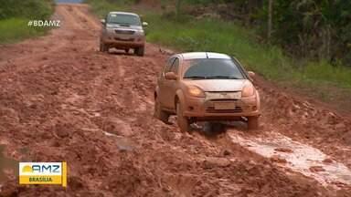 Pavimentação da BR-319 ainda segue em análise - Rodovia é o único acesso terrestre de Manaus para o resto do país.
