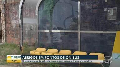 Santarém tem 130 abrigos de passageiros em paradas de ônibus - Local protege a população do sol e chuva.