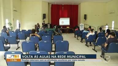 Escolas da rede municipal de Santarém retomam aulas, mas no modo remoto - Saiba mais detalhes sobre esse retorno.