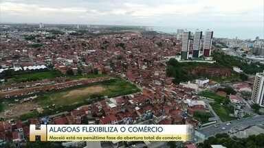Maceió entra hoje na penúltima fase de flexibilização antes da liberação total do comércio - Maceió amplia para 75% a capacidade de atendimento alguns setores, como os bares e restaurantes.