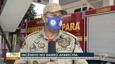 Corpo de Bombeiros de Santarém apura causas de incêndio em casa no bairro Aparecida - Incidente aconteceu no fim da tarde de sábado (15). Felizmente ninguém ficou ferido.