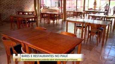 Bares e restaurantes podem voltar a abrir no Piauí - Os estabelecimentos podem abrir por oito horas. O horário limite para funcionar é meia noite.