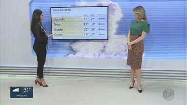 Veja a previsão do tempo para esta segunda-feira (17) para a região - Ribeirão Preto (SP) tem alerta de queimada.