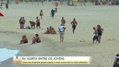 Prefeitura do Rio constata que casos de síndrome gripal subiram, especialmente, em jovens - Os mais novos são vistos com grande preocupação pelos infectologistas porque podem atuar como vetores.