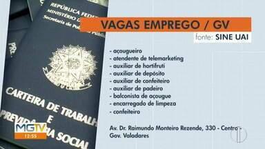 Sine de Governador Valadares tem vagas de emprego disponíveis - Oportunidades são para 17 áreas.