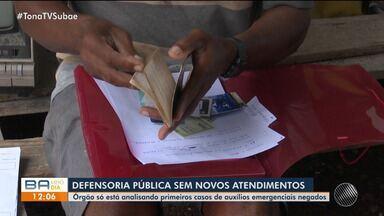 Defensoria Pública em Feira de Santana segue sem novos atendimentos - Órgão só está analisando primeiros casos de auxílios emergenciais negados.