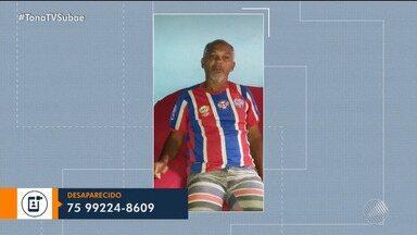 Família procura homem que desapareceu em Feira de Santana - Reginaldo Alves da Luz sumiu desde o dia 8 de agosto. Quem tiver alguma informação sobre ele pode ligar para o número 75.99224-8609.