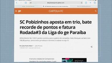 SC Pobizinhos bate recorde de pontos e fatura Rodada #3 da Liga do ge Paraíba - SC Pobizinhos bate recorde de pontos e fatura Rodada #3 da Liga do ge Paraíba