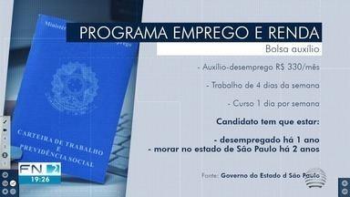 Programa oferece vagas com auxílio-desemprego em cidades do Oeste Paulista - Participantes receberão o benefício mensal de R$ 330,00 e ainda terão a oportunidade de realizar cursos de qualificação. Inscrições estão abertas e são totalmente gratuitas.