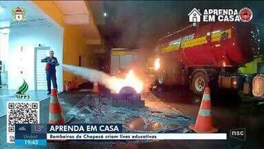 Bombeiros de Chapecó fazem transmissões ao vivo educativas - Bombeiros de Chapecó fazem transmissões ao vivo educativas