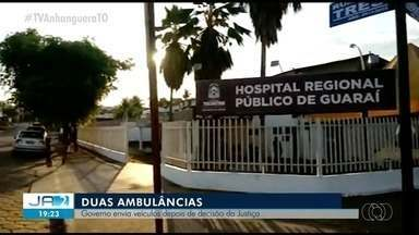 Ambulâncias são enviadas a Guaraí após Justiça questionar informações de secretário - Ambulâncias são enviadas a Guaraí após Justiça questionar informações de secretário