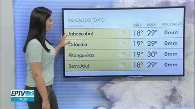 Veja a previsão do tempo para esta terça-feira (18) na região de Ribeirão Preto - Apesar de torcida, não deve haver chuva por enquanto.