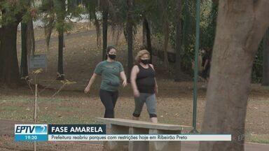 Prefeitura de Ribeirão Preto reabre parques, mas com restrições por causa da pandemia - Áreas públicas estavam fechadas desde março. Horário de funcionamento foi reduzido.