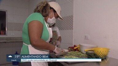 ONG Alimentando Bem ajuda comunidade em Guarujá - Comunidade do Perequê é ajudada por ONG que começou em meio à pandemia.