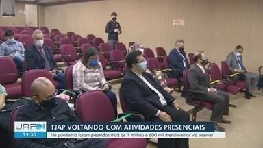 Tribunal de Justiça do Amapá retoma atendimentos presenciais com 25% do capacidade - Para solicitar, basta acessar o site do Tjap. Até a segunda-feira (17), 91 servidores foram infectados com o novo coronavírus; 5 deles morreram.