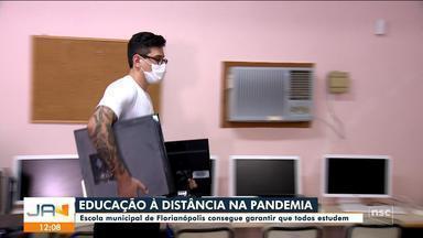Escola municipal de Florianópolis garante que todos estudem à distância - Escola municipal de Florianópolis garante que todos estudem à distância