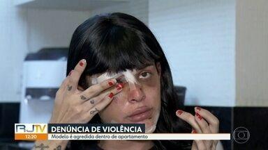Polícia Civil identifica homem que agrediu transexual Alice Felis, em Copacabana - Caso aconteceu na madrugada de domingo. Alice Felis ficou com o rosto desfigurado.