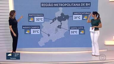 Quarta-feira de calor em BH e região metropolitana - A temperatura máxima pode chegar aos 31°C, em BH.