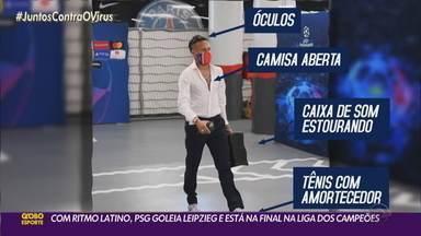 Neymar puxa festa dos jogadores do PSG - Time chega a uma final da Liga dos Campeões pela primeira vez na história.