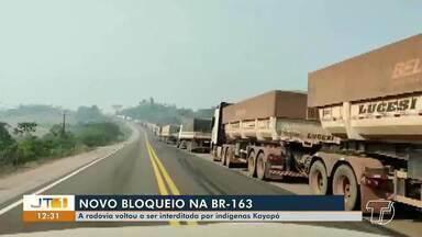 BR-163 volta a ser interditada por indígenas Kayapó - Confira.