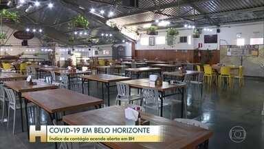 Belo Horizonte registra aumento da taxa de transmissão da Covid-19 - Bares e restaurantes continuarão fechados.