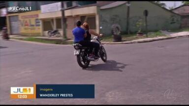 Moradores cobram mais segurança no trânsito em Icoaraci, distrito de Belém - Moradores cobram mais segurança no trânsito em Icoaraci, distrito de Belém
