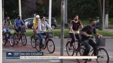 São Vicente tem programação especial para o dia do ciclista - Nesta quarta-feira (19) é comemorado o dia nacional do ciclista e associação preparou uma programação.