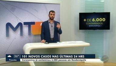 Em Rondonópolis mais de 6 mil pessoas já se contaminaram pela covid-19 - Em Rondonópolis mais de 6 mil pessoas já se contaminaram pela covid-19