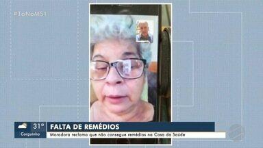Moradora reclama que não consegue remédios na Casa da Saúde - Moradora reclama que não consegue remédios na Casa da Saúde