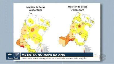 MS registra seca em todo seu território em julho - Em Dourados.