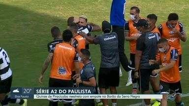 XV abre 2 a 0 com 12 minutos de jogo, mas Votuporanguense reage no fim e empata aos 48 - Macena e Alvinho travam duelo à parte entre artilheiros, com dois gols para cada lado.