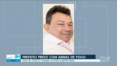 Prefeito de Cândido Mendes, Mazinho Leite, é preso durante operação do Ministério Públicio - Operação investiga a contratação de empresas de fachada que eram usadas em supostos desvios de dinheiro.
