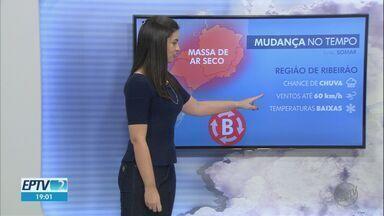 Veja a previsão do tempo para esta quinta-feira (20) na região de Ribeirão Preto - Chegada de massa de ar polar deve derrubar as temperaturas.