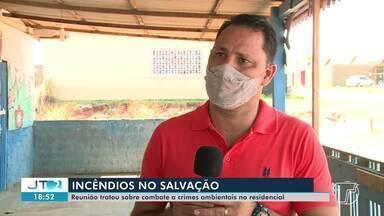 Reunião trata sobre incêndios na área do Residencial Salvação, em Santarém - Confira na reportagem.