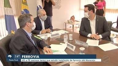 MS e PR assinam termo que estuda instalação de ferrovia até Maracaju - MS e PR assinam termo que estuda instalação de ferrovia até Maracaju