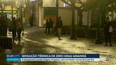 Sensação térmica pode chegar a zero grau em Curitiba na sexta-feira (21) - A sexta-feira não será o dia mais frio do ano, mas a sensação térmica pode dar essa impressão.