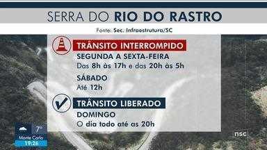 Defesa Civil recomenda que motoristas não trafeguem pela Serra do Rio do Rastro - Defesa Civil recomenda que motoristas não trafeguem pela Serra do Rio do Rastro