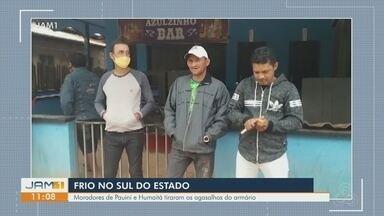 Frente fria chega no Sul do Amazonas - Moradores de Pauini e Humaitá tiraram os agasalhos do armário.