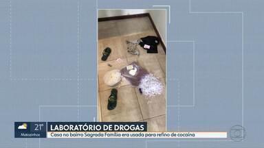 Polícia Civil desmonta laboratório de cocaína na Região Leste de Belo Horizonte - Casa era usada como laboratório de refino da droga.