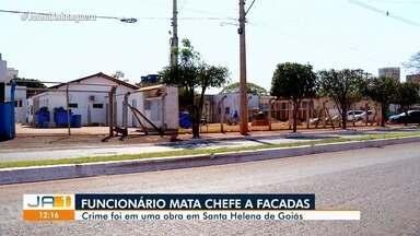Funcionário é suspeito de matar o chefe a facadas, em Santa Helena de Goiás - Polícia faz buscas na região a procura do suspeito.