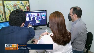 Reunião com representantes políticos e equipe da TV Grande Rio é realizada virtualmente - O encontro foi para apresentar o projeto das Eleições 2020 da TV Grande Rio.