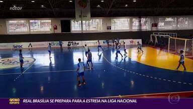 Real Brasília se prepara para a estreia na Liga Nacional de Futsal - Durante a pandemia, os atletas treinaram em casa com orientação da comissão técnica. Após a autorização da reabertura das academias, passaram a se preparar presencialmente e, no último dia 10, retomaram os treinos com bola no Ginásio do Cruzeiro.