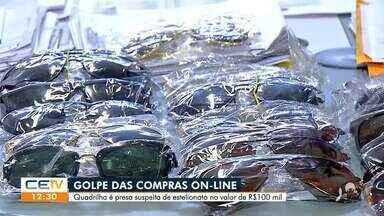 Quadrilha é presa suspeita de estelionato no valor de R$ 100 mil - Saiba mais em g1.com.br/ce