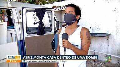 Atriz monta casa dentro de kombi e planeja viajar pela América Latina - Saiba mais em g1.com.br/ce