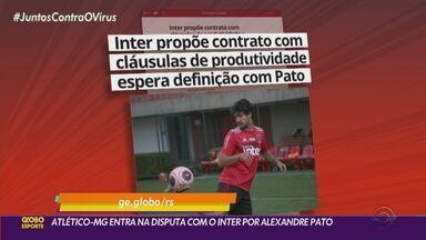 Atlético-MG entra na disputa com Inter por Alexandre Pato - Contrato oferecido pelo Atlético-MG tem um tempo menor.