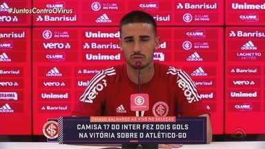 Thiago Galhardo se destaca no Inter com a saída de Guerrero - Jogador fez dois gols na vitória sobre o Atlético-GO na última quarta-feira (19).
